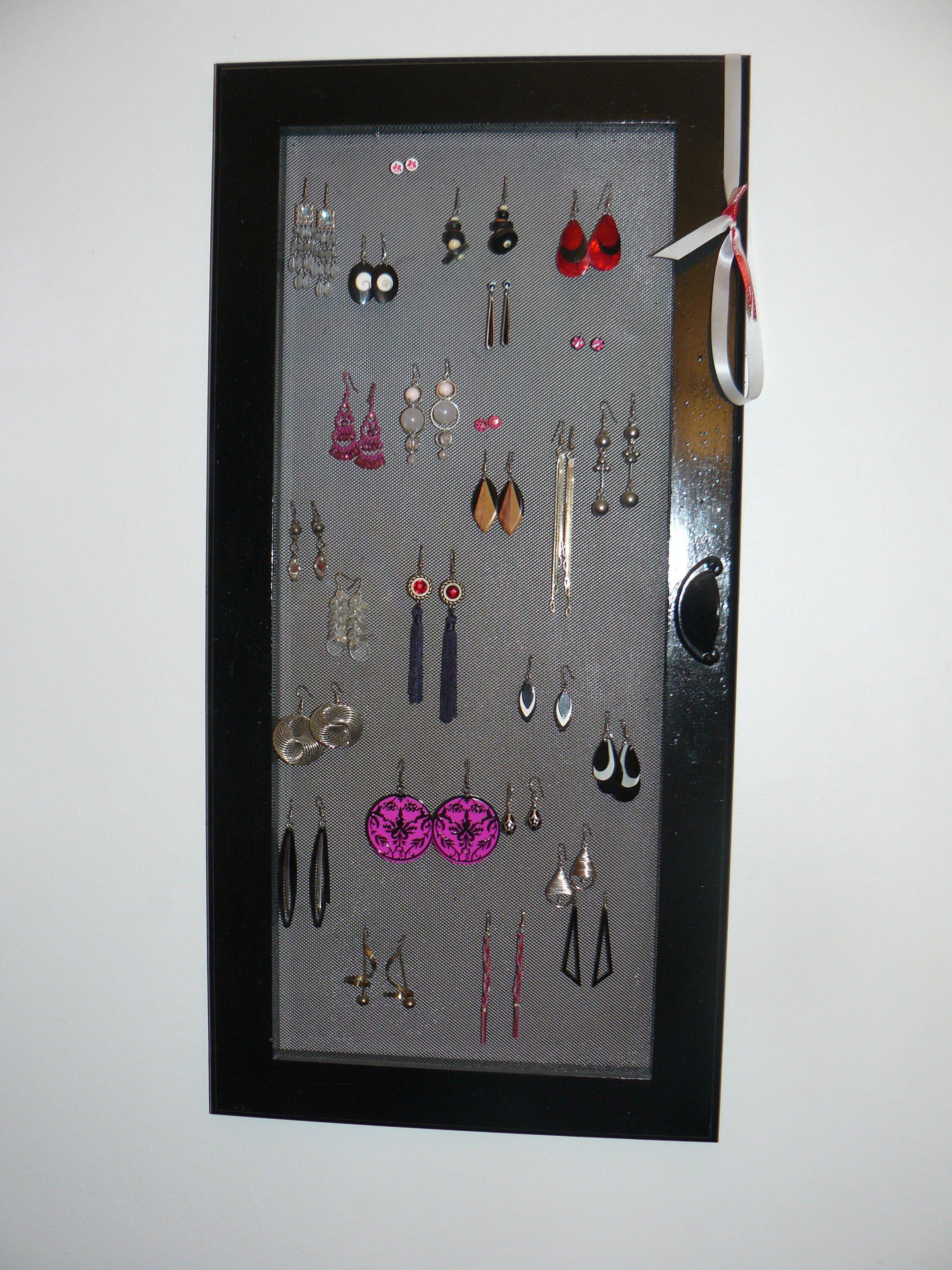 Dotycrea porte boucles d oreilles mural fa on tableau - Comment fabriquer un porte boucle d oreille ...